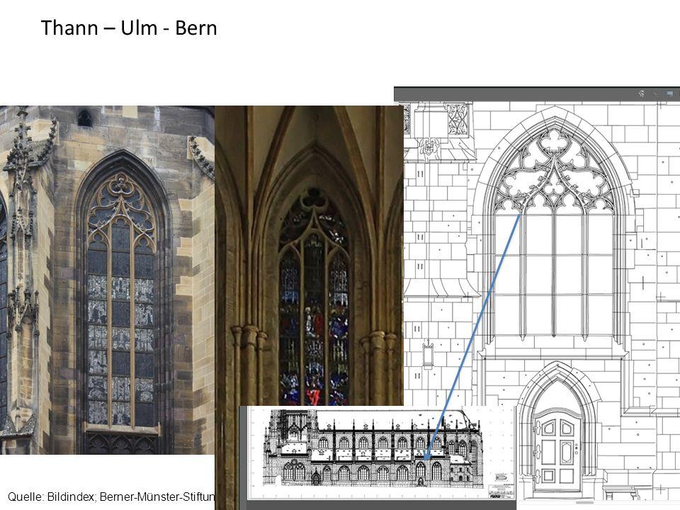 Thann – Ulm - Bern Quelle: Bildindex; Berner-Münster-Stiftung Bern