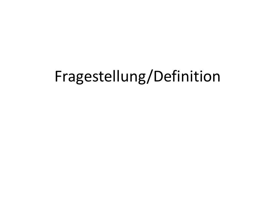 Fragestellung/Definition Stil: Konzepte u. Einbettung