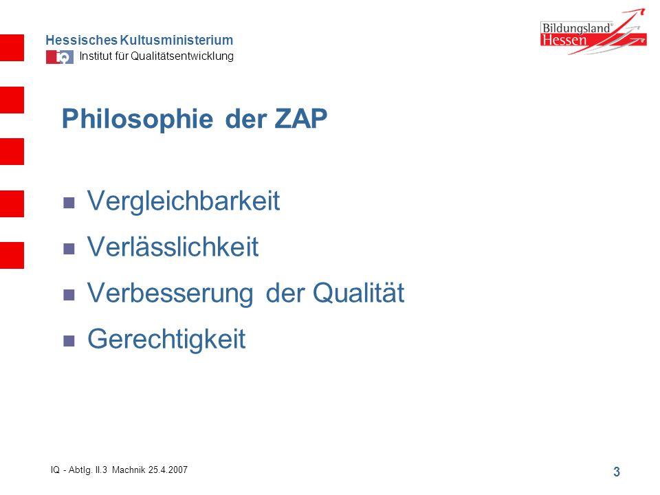 Hessisches Kultusministerium Institut für Qualitätsentwicklung 3 IQ - Abtlg.
