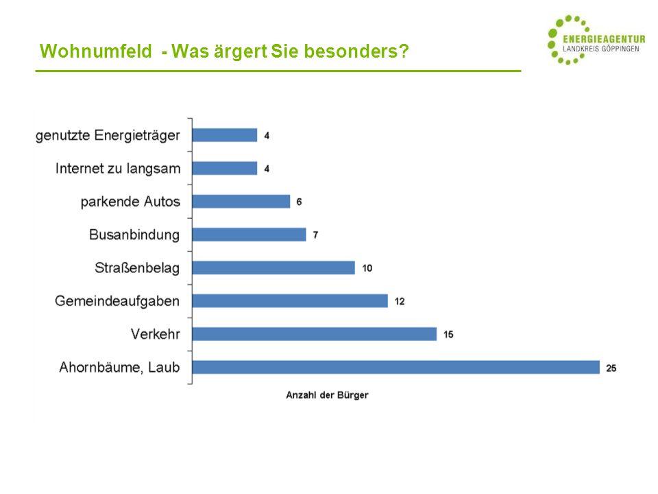 Wohnumfeld - Was ärgert Sie besonders?