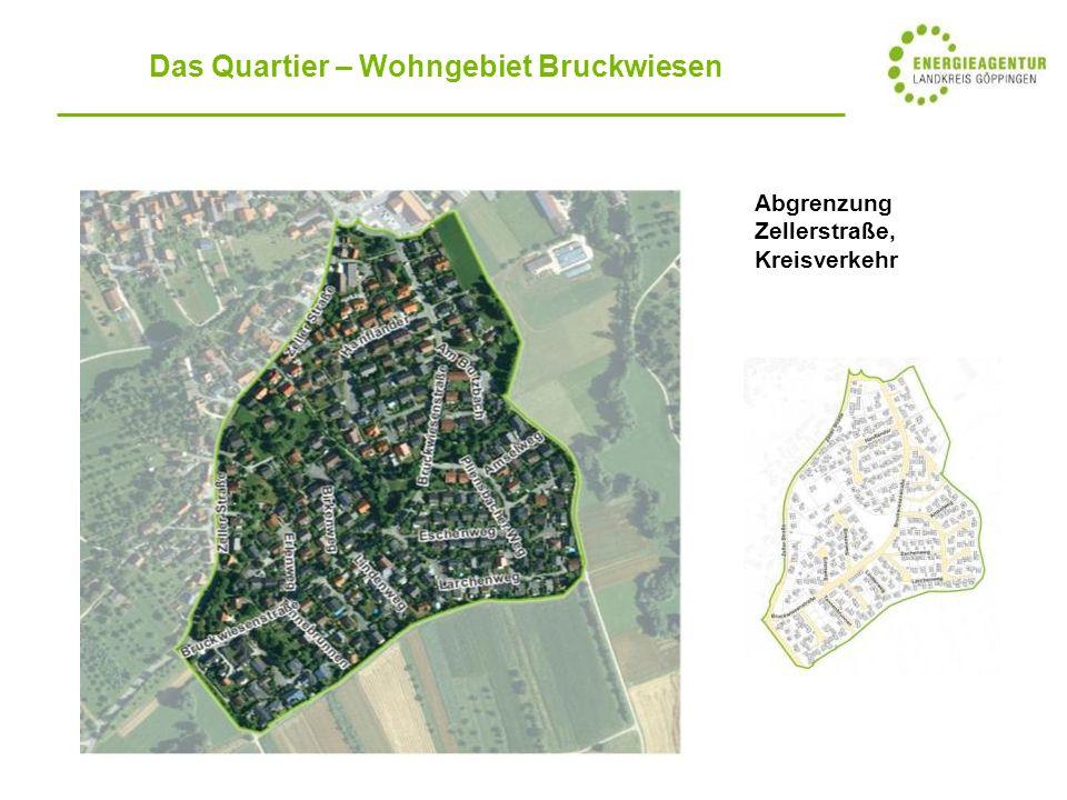 Abgrenzung Zellerstraße, Kreisverkehr Das Quartier – Wohngebiet Bruckwiesen