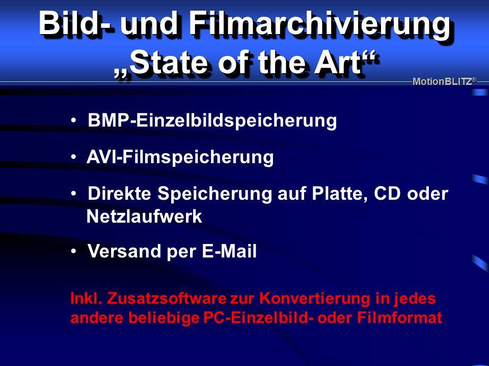AVI-Filmspeicherung BMP-Einzelbildspeicherung Inkl.