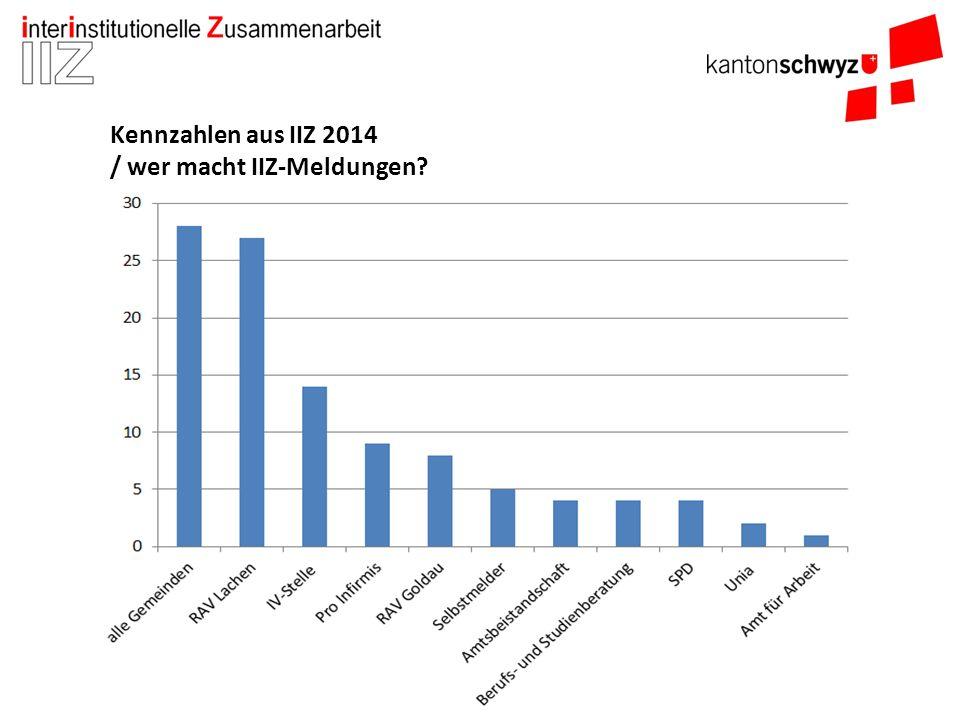 Kennzahlen aus IIZ 2014 / wer macht IIZ-Meldungen