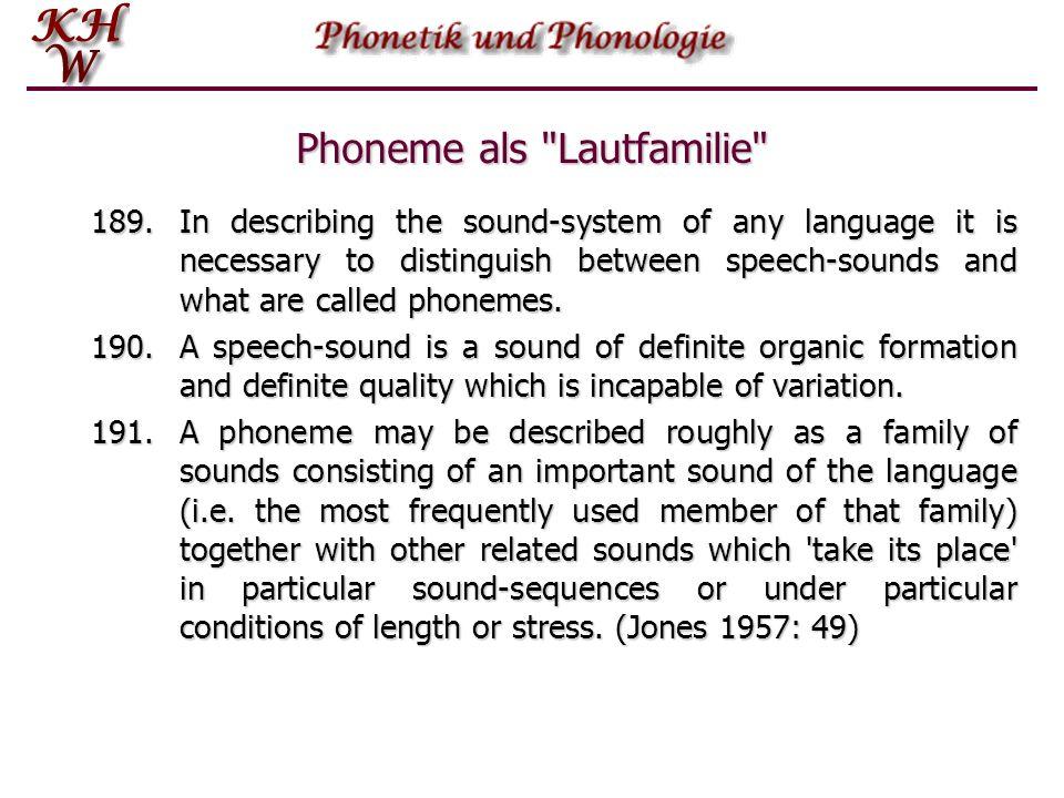 Distinktive Merkmale spin silbisch--+- sonorant--++ konsonantisch++-+ koronal+--+ anterior++-+ hoch--+- niedrig---- hinten---- nasal---+ lateral---- rund---- okklusiv–+++ fortis++-- stimmhaft--++ sibilant+---