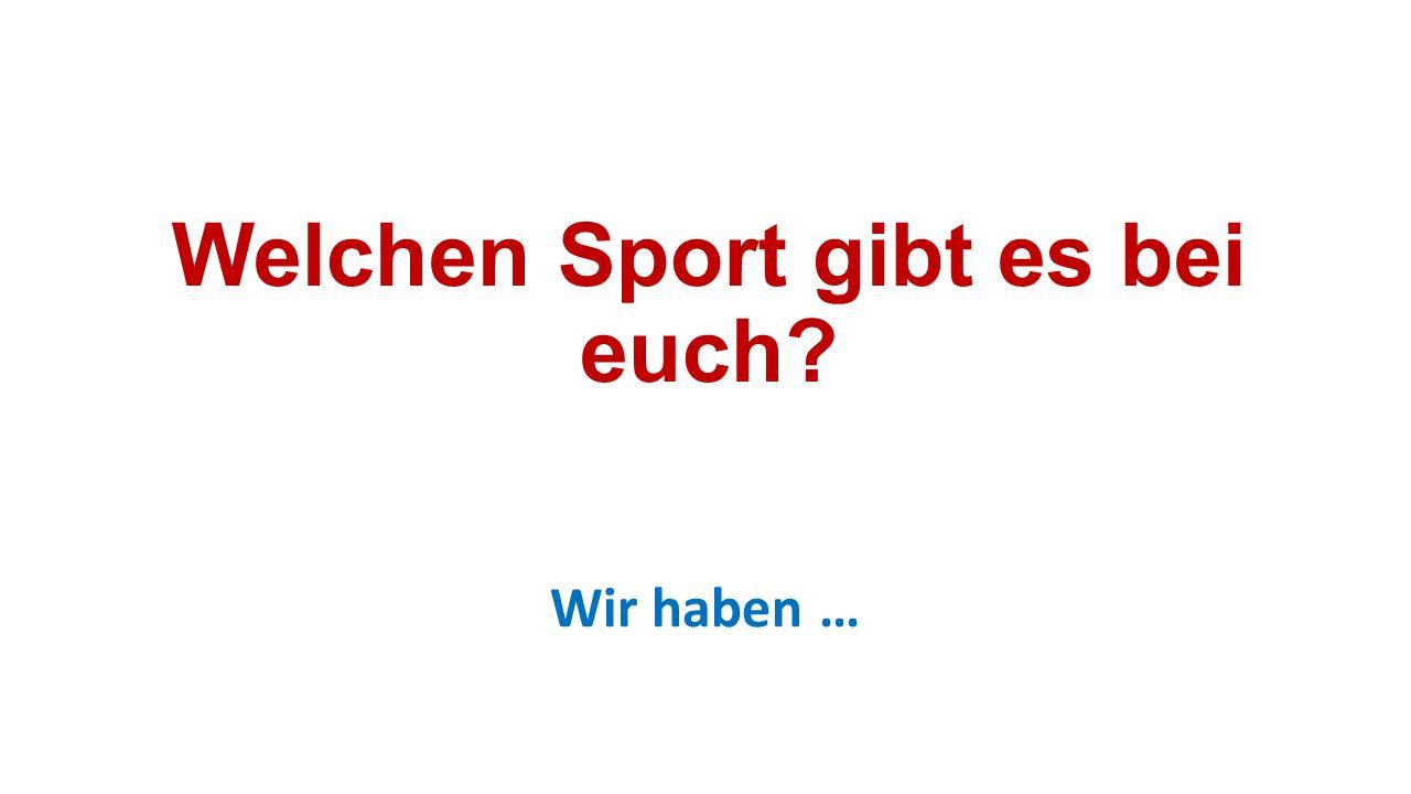 Welchen Sport gibt es bei euch? Wir haben …