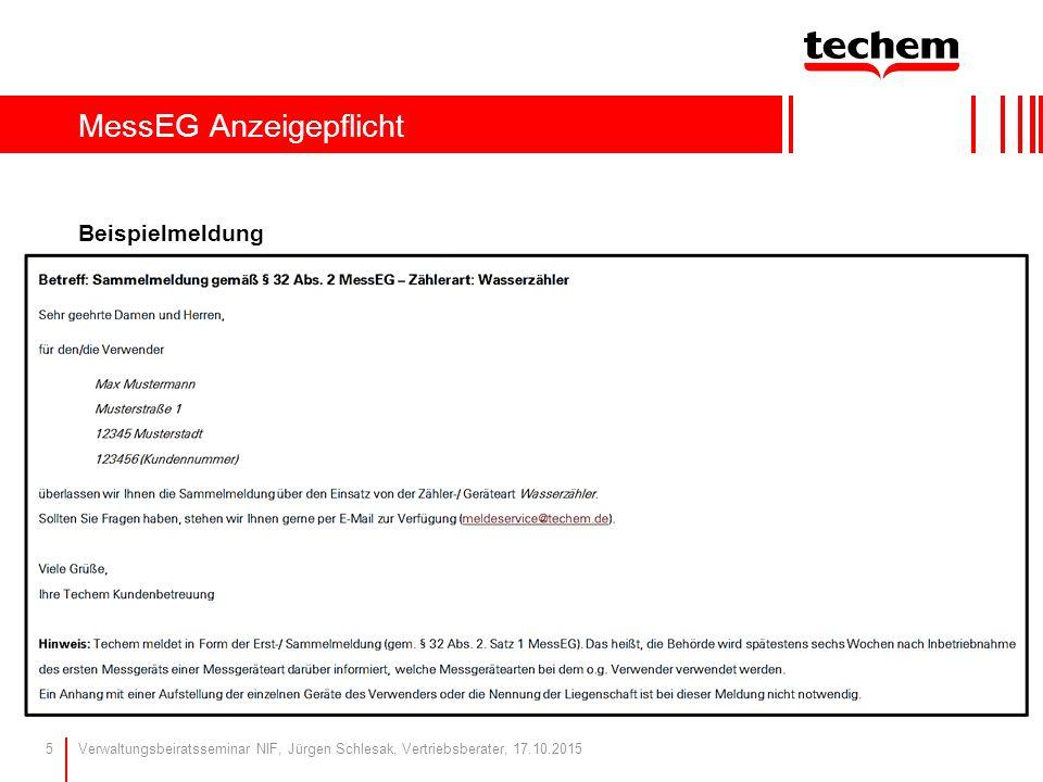 MessEG Anzeigepflicht Beispielmeldung Verwaltungsbeiratsseminar NIF, Jürgen Schlesak, Vertriebsberater, 17.10.20155