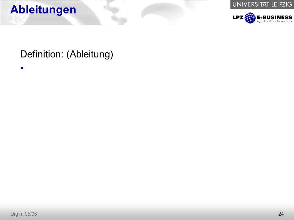 24 DigInf 05/06 Ableitungen Definition: (Ableitung)