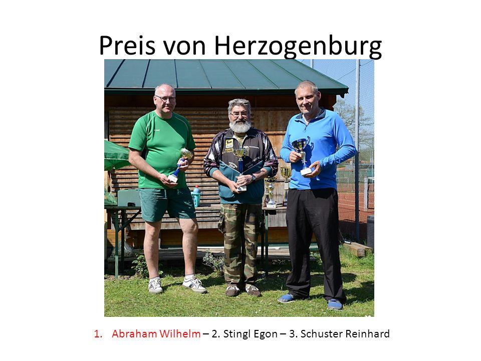 Preis von Herzogenburg 1.Abraham Wilhelm – 2. Stingl Egon – 3. Schuster Reinhard