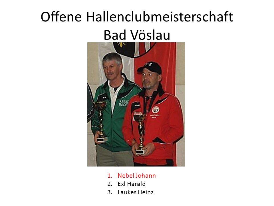 Niederösterreichische Hallen- Landesmeisterschaft 2014/2015 1.Stingl Egon 2.Heschl Paul 3.Bücker Bernhard