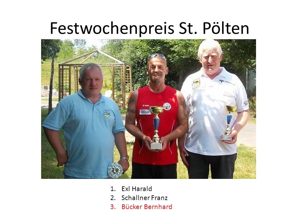 Festwochenpreis St. Pölten 1.Exl Harald 2.Schallner Franz 3.Bücker Bernhard