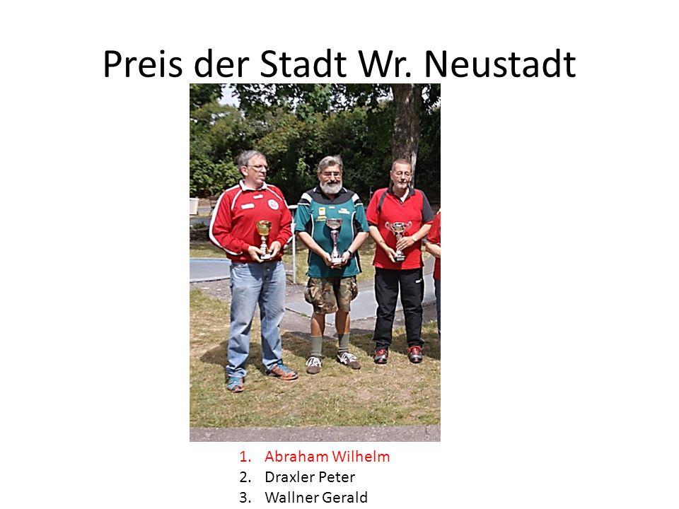 Preis der Stadt Wr. Neustadt 1.Abraham Wilhelm 2.Draxler Peter 3.Wallner Gerald
