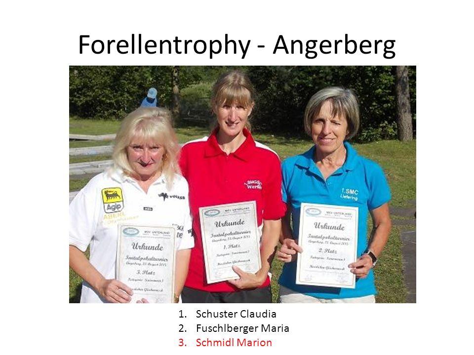 Forellentrophy - Angerberg 1.Schuster Claudia 2.Fuschlberger Maria 3.Schmidl Marion