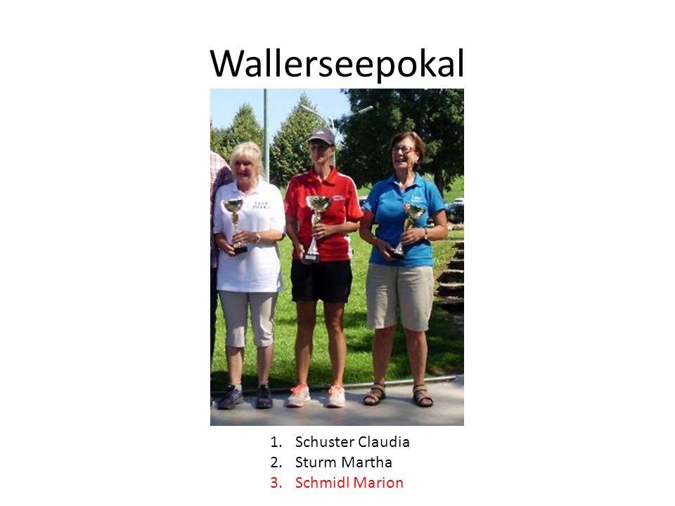 Wallerseepokal 1.Schuster Claudia 2.Sturm Martha 3.Schmidl Marion