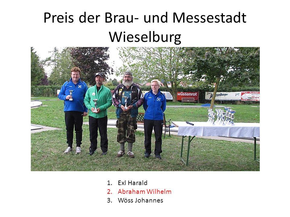 Preis der Brau- und Messestadt Wieselburg 1.Exl Harald 2.Abraham Wilhelm 3.Wöss Johannes