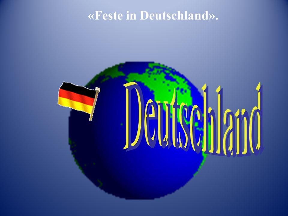 «Feste in Deutschland».