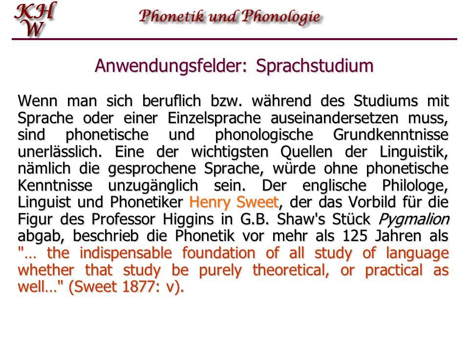 Anwendungsfelder: Sprachstudium Wenn man sich beruflich bzw.