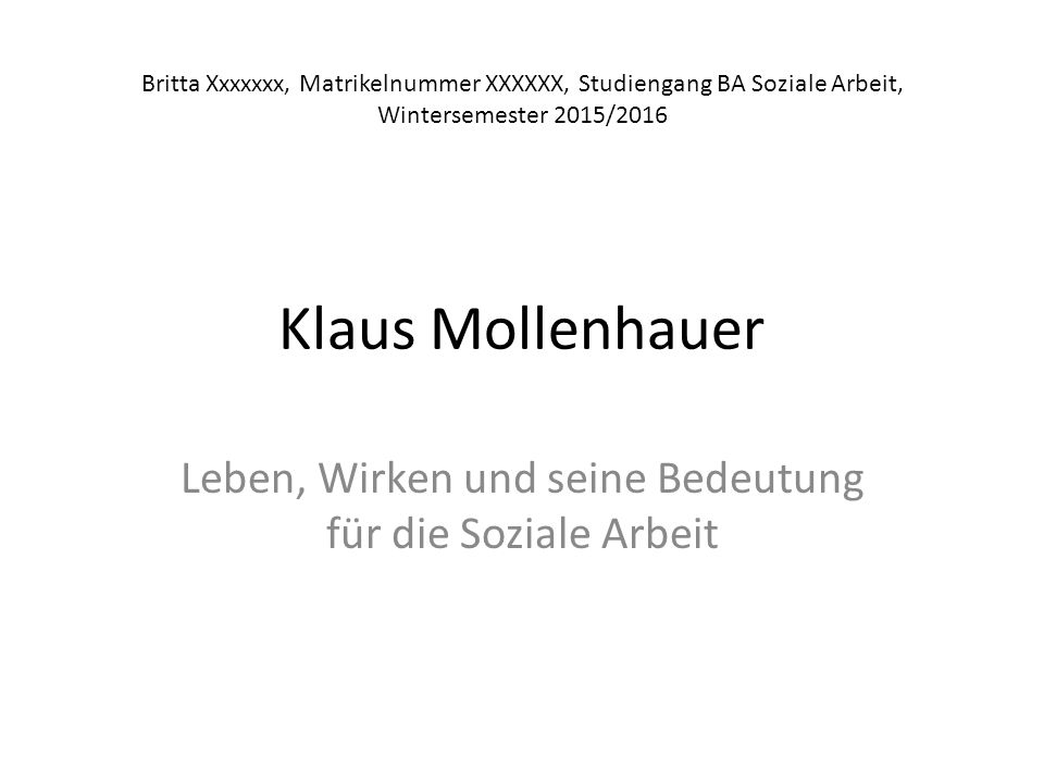 31.10.1928 – 18.03.1998 Abb. 1 – Klaus Mollenhauer (1985)