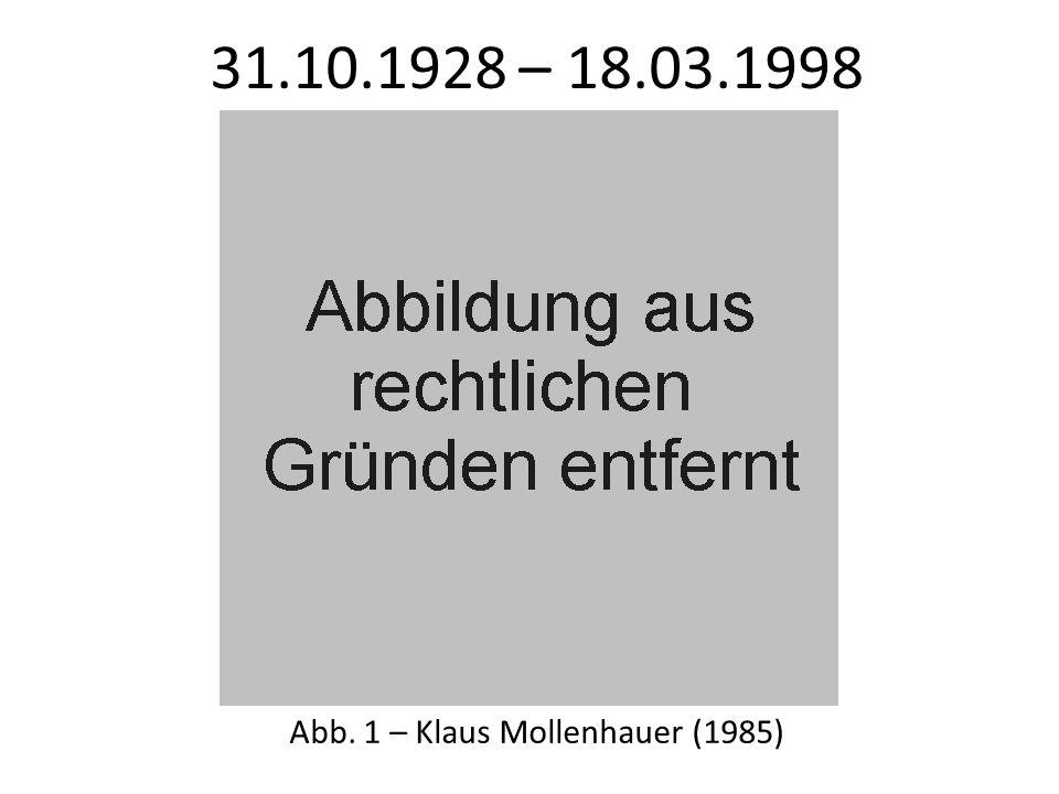 2.3 - Kritische Erziehungswissenschaft Mollenhauer war zudem wesentlicher Akteur der drei Wendungen in der Theoriebildung der Sozialpädagogik.