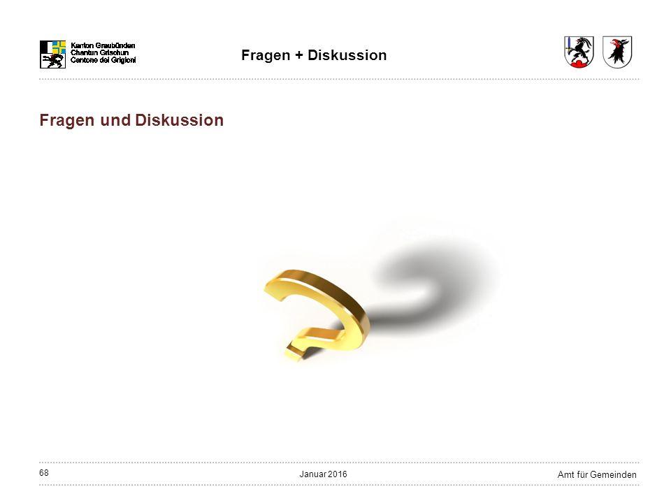 68 Amt für Gemeinden Januar 2016 Fragen + Diskussion Fragen und Diskussion