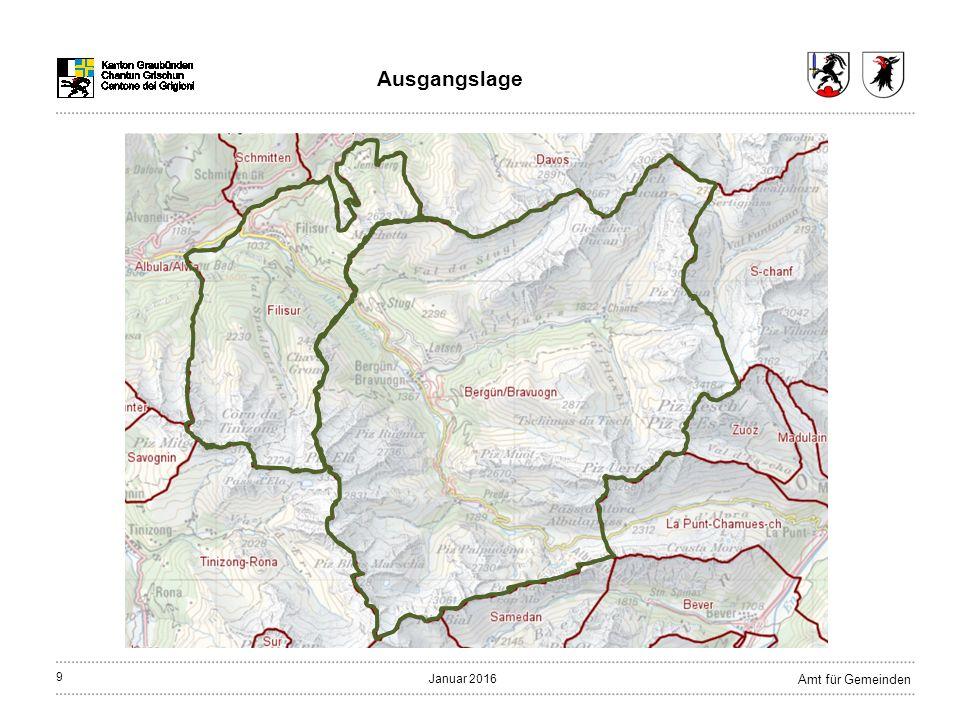 9 Amt für Gemeinden Januar 2016 Ausgangslage