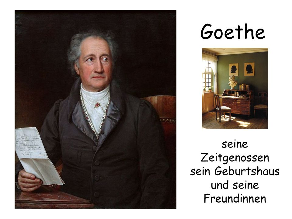 das Dichterzimmer Dies war das Reich Goethes.
