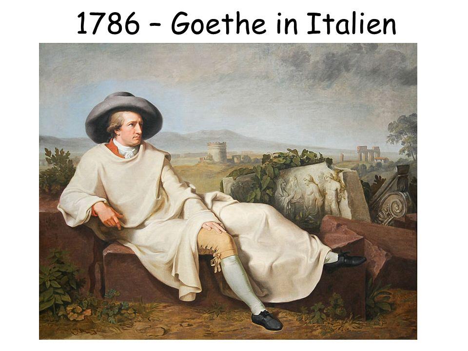 1786 – Goethe in Italien