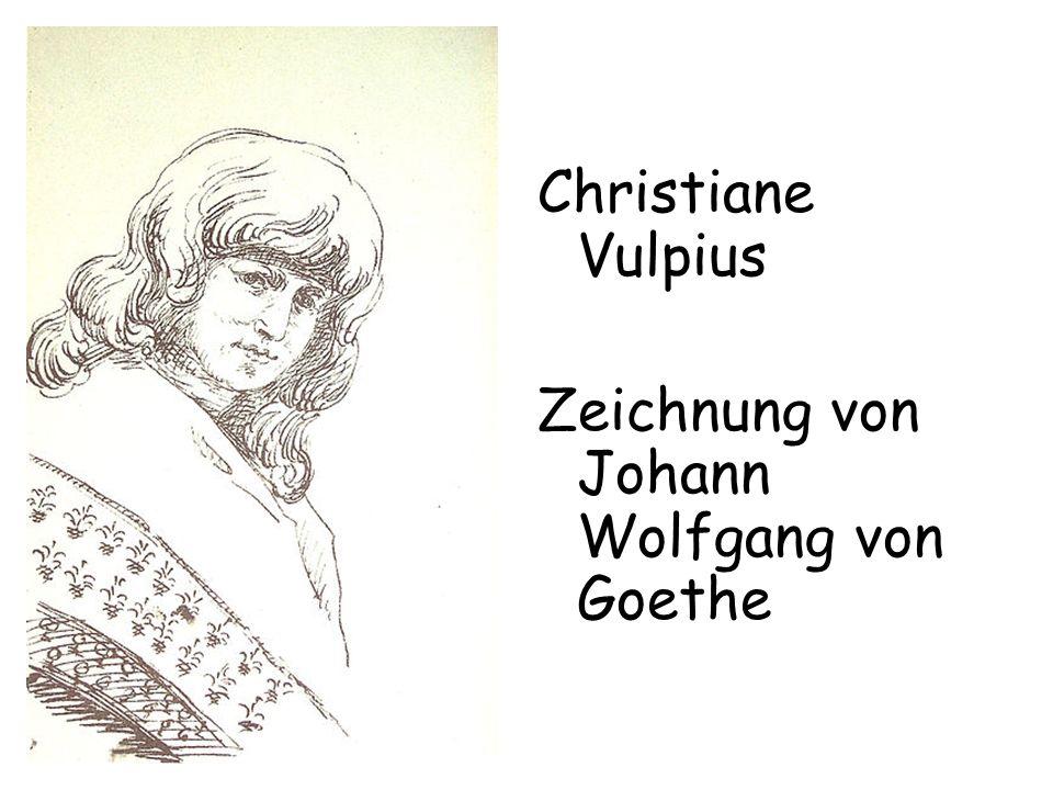 Christiane Vulpius Zeichnung von Johann Wolfgang von Goethe