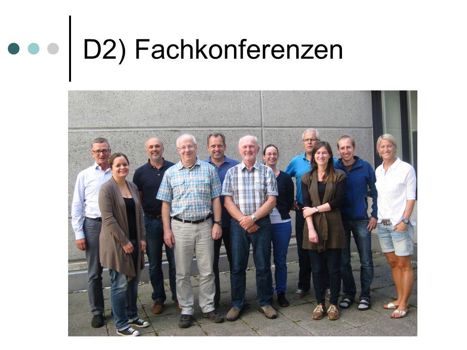 D2) Fachkonferenzen