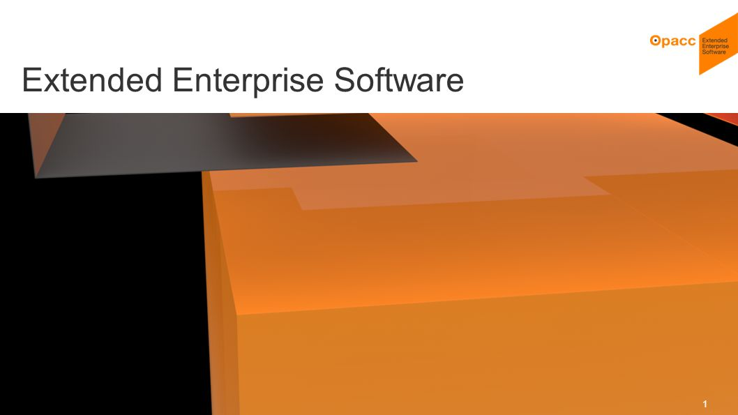 Opacc, CH-Kriens/LucerneOpaccConnect 201430.10.2014 1 Extended Enterprise Software