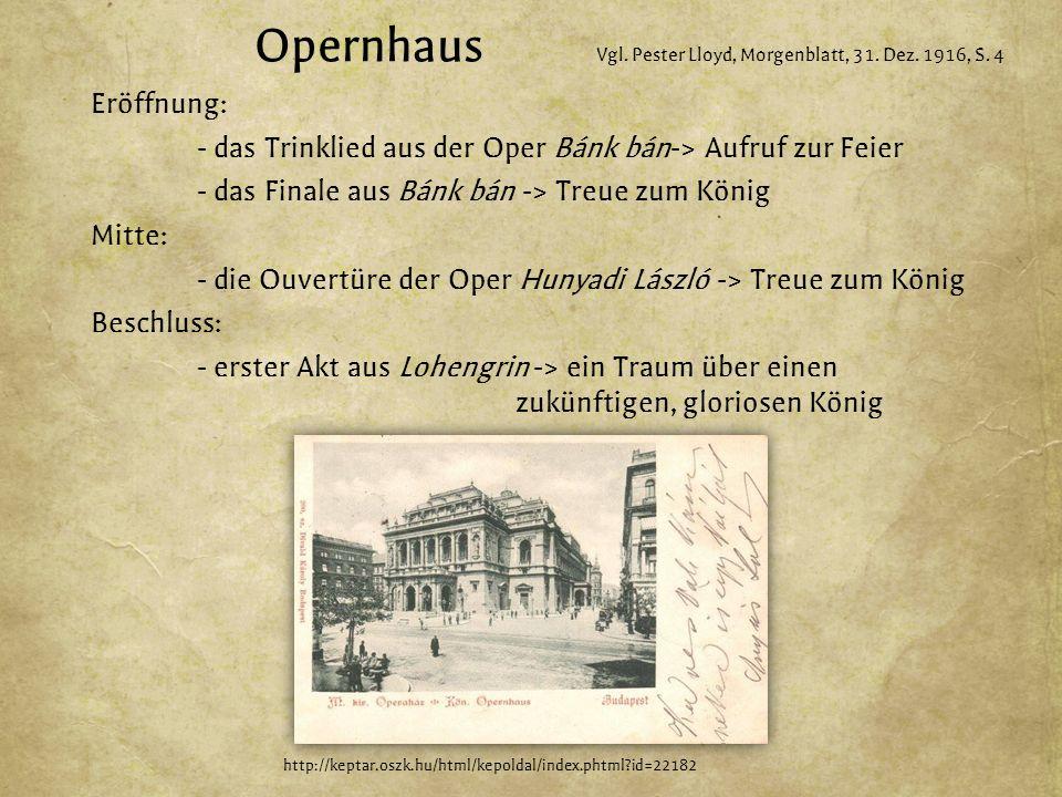 Opernhaus Vgl. Pester Lloyd, Morgenblatt, 31. Dez.