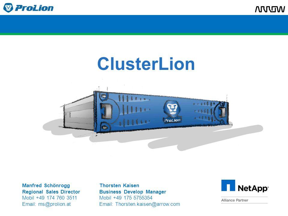 Übersicht 1.ProLion-NetApp Allianz 2.Hochverfügbarkeit 3.MetroCluster Herausforderungen 4.ClusterLion Lösung 5.ClusterLion vs.