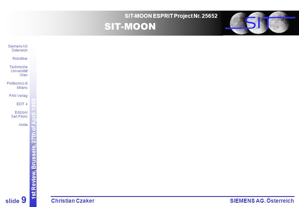 SIT-MOON ESPRIT Project Nr.