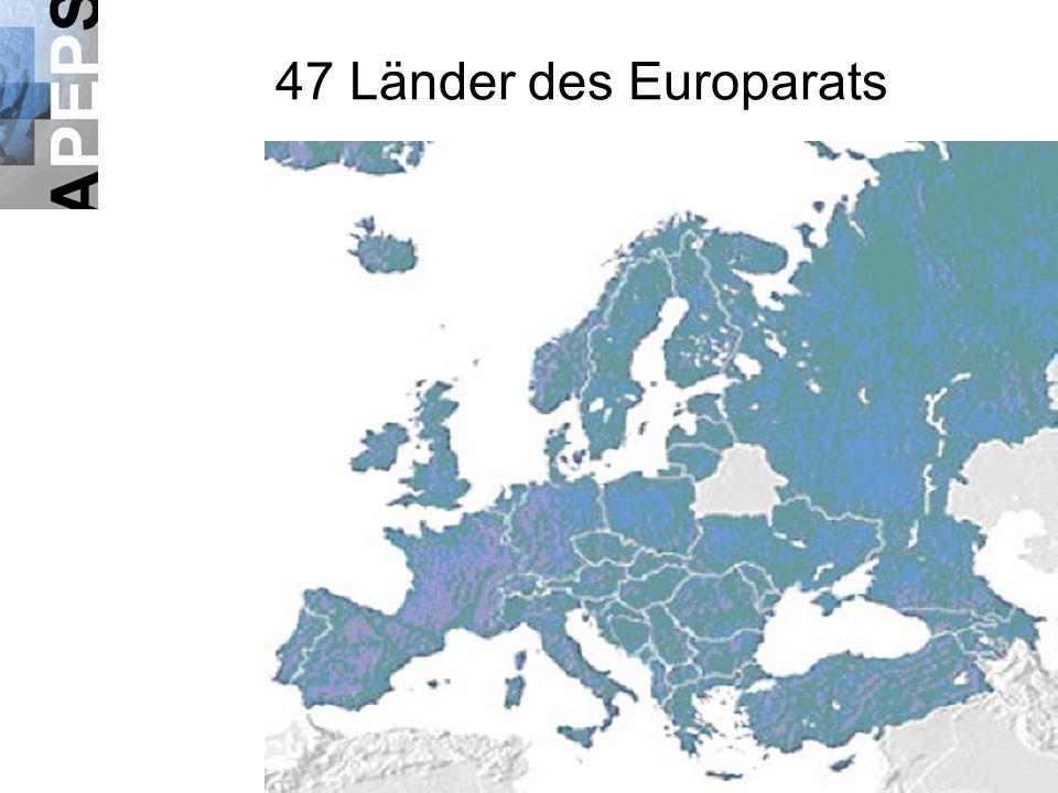 47 Länder des Europarats
