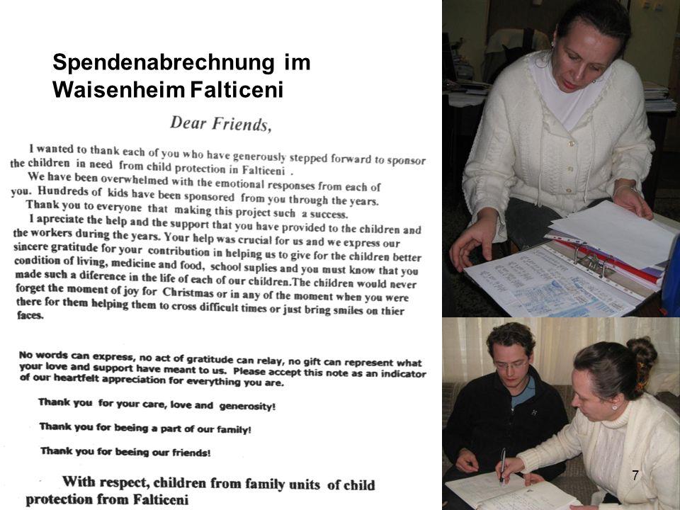 Spendenabrechnung im Waisenheim Falticeni 7