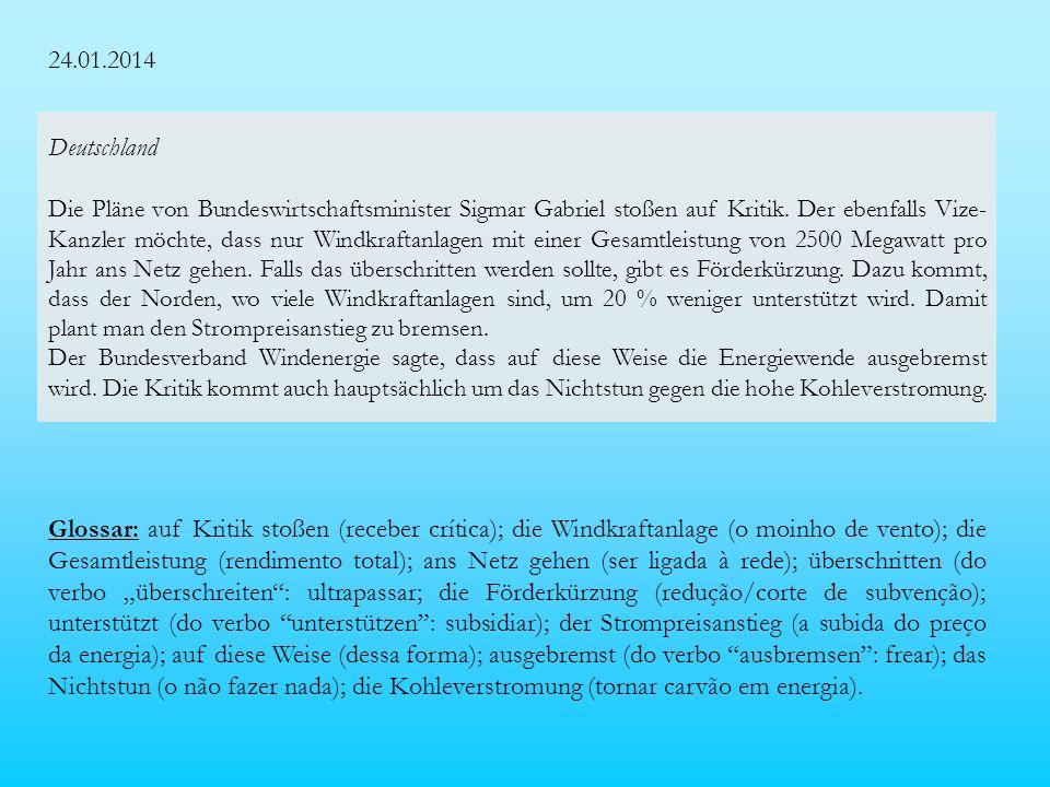 24.01.2014 Deutschland Die Pläne von Bundeswirtschaftsminister Sigmar Gabriel stoßen auf Kritik.