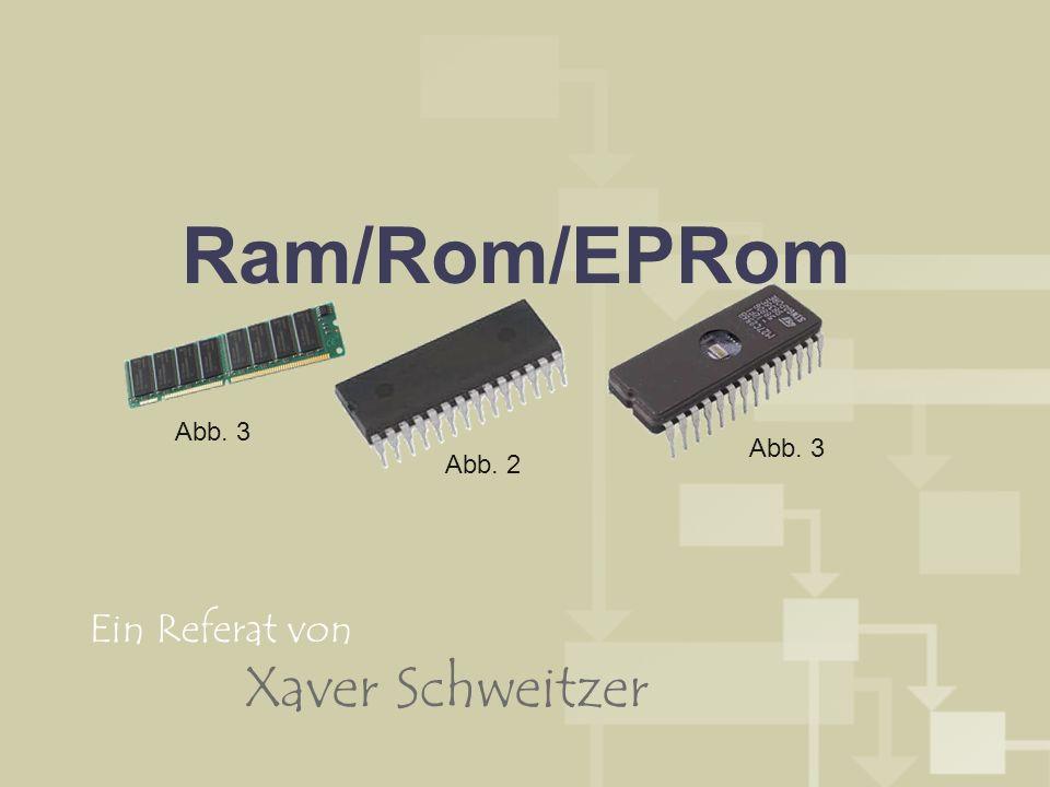 Ram/Rom/EPRom Abb. 3 Abb. 2 Abb. 3 Ein Referat von Xaver Schweitzer