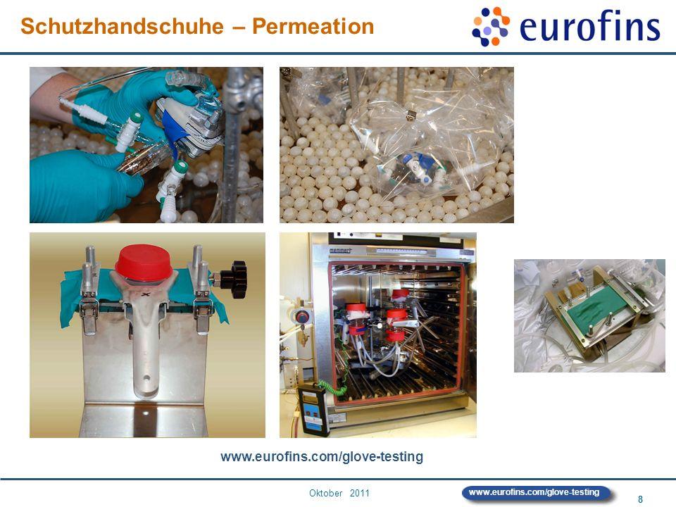 Oktober 2011 8 www.eurofins.com/glove-testing Schutzhandschuhe – Permeation www.eurofins.com/glove-testing