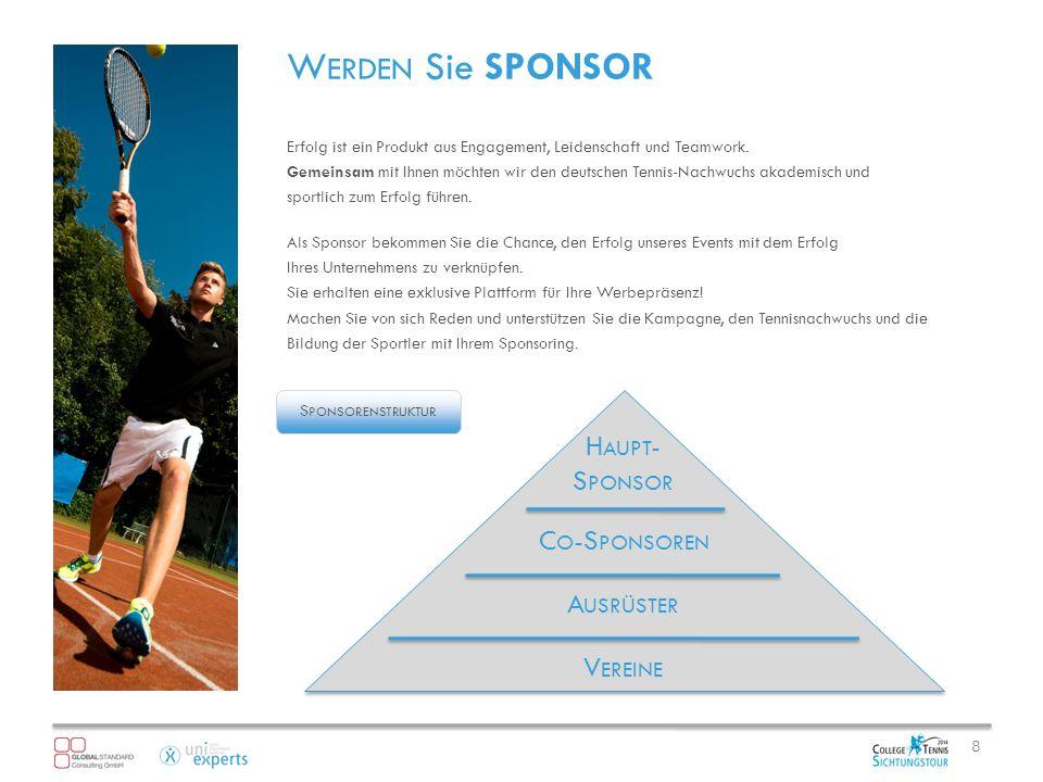 W ERDEN Sie SPONSOR Erfolg ist ein Produkt aus Engagement, Leidenschaft und Teamwork.