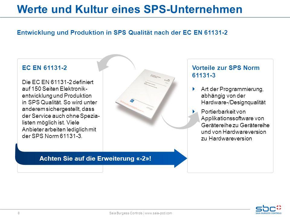 8 EC EN 61131-2 Die EC EN 61131-2 definiert auf 150 Seiten Elektronik- entwicklung und Produktion in SPS Qualität. So wird unter anderem sichergestell