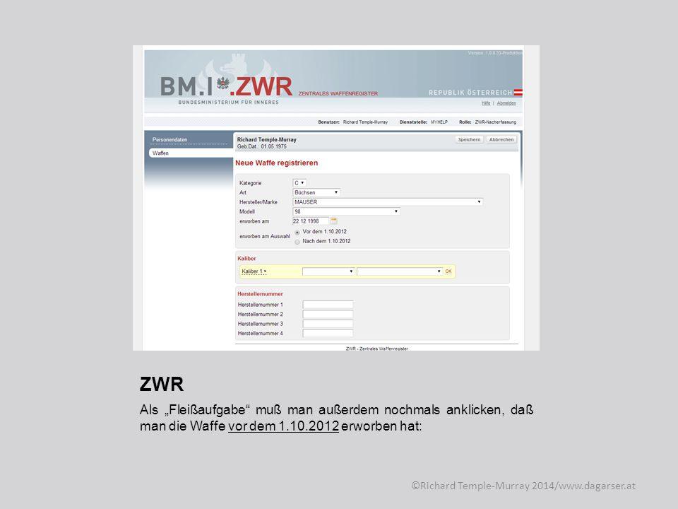 ZWR Doppelt hält scheinbar besser… ©Richard Temple-Murray 2014/www.dagarser.at