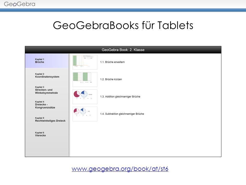 Videos http://vimeo.com/user22430658/Videos Einführung der GeoGebra Tablet App GeoGebraTube Umkreis Inkreis Schwerpunkt Höhenschnittpunkt