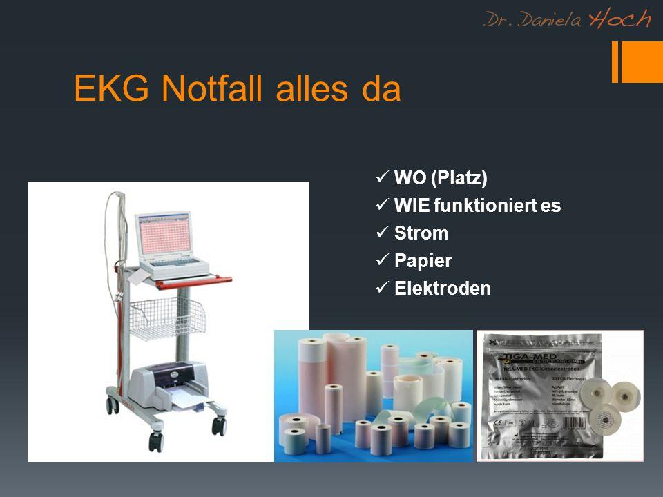 EKG Notfall alles da WO (Platz) WIE funktioniert es Strom Papier Elektroden