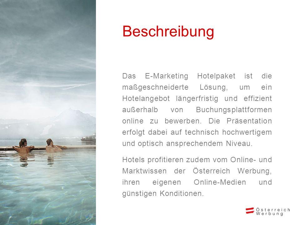 Das E-Marketing Hotelpaket ist die maßgeschneiderte Lösung, um ein Hotelangebot längerfristig und effizient außerhalb von Buchungsplattformen online z