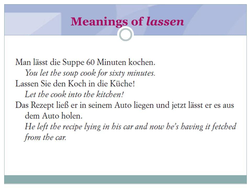 Meanings of lassen