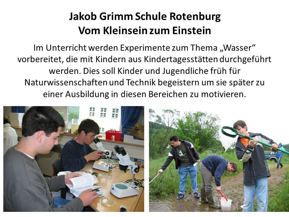 Jakob Grimm Schule Rotenburg Vom Kleinsein zum Einstein Im Unterricht werden Experimente zum Thema Wasser vorbereitet, die mit Kindern aus Kindertages