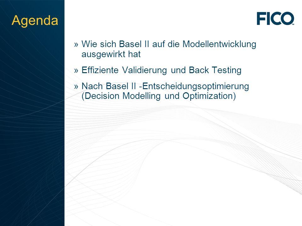 © 2010 Fair Isaac Corporation. Confidential. 2 Agenda »Wie sich Basel II auf die Modellentwicklung ausgewirkt hat »Effiziente Validierung und Back Tes