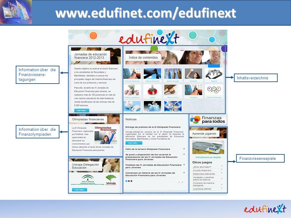www.edufinet.com/edufinext Information über die Finanzwissens- tagungen Information über die Finanzolympiaden Inhaltsverzeichnis Finanzwissensspiele