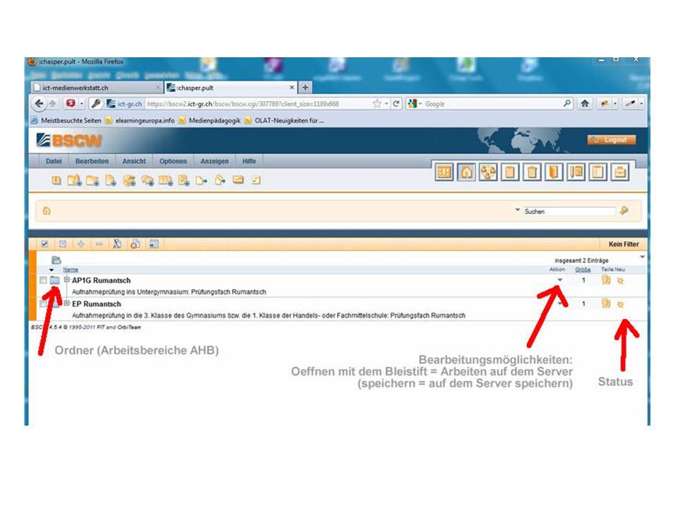 Technischer Support Sollte das direkte Bearbeiten auf dem Server nicht funktionieren: Das Problem liegt nicht bei BSCW, sondern bei Windows 7, das den WebClient -Dienst in der Voreinstellung deaktiviert: http://technet.microsoft.com/de-de/library/cc781730%28WS.10%29.aspx http://technet.microsoft.com/de-de/library/cc781730%28WS.10%29.aspx Andy Reich, ICT-Atelier Tel.: 081 250 79 53, Mail: info@ict-atelier.ch Supportzeiten: 7.00 Uhr - 21.00 Uhrinfo@ict-atelier.ch ICT-Atelier I Medienwerkstatt GmbH, Sägenstrasse 8, 7000 Chur, 081 250 79 53