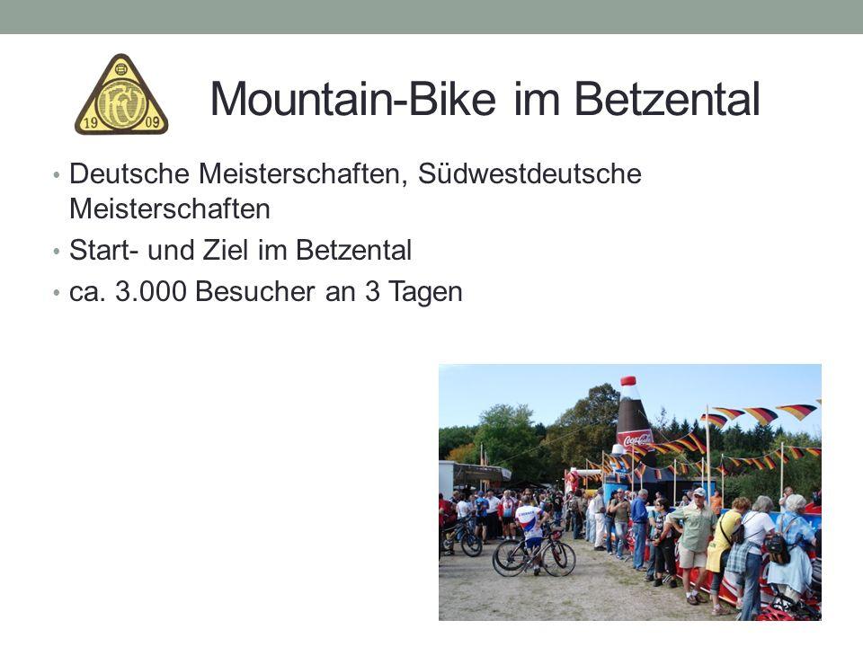 Mountain-Bike im Betzental Deutsche Meisterschaften, Südwestdeutsche Meisterschaften Start- und Ziel im Betzental ca. 3.000 Besucher an 3 Tagen
