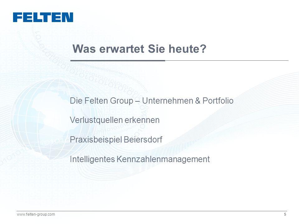16 www.felten-group.com Linie 1: Gutteile Schlechtteile Formel Q (Qualitätsrate)